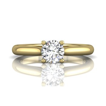 Solitaire Engagement Ring with Round Fire & Ice Diamond
