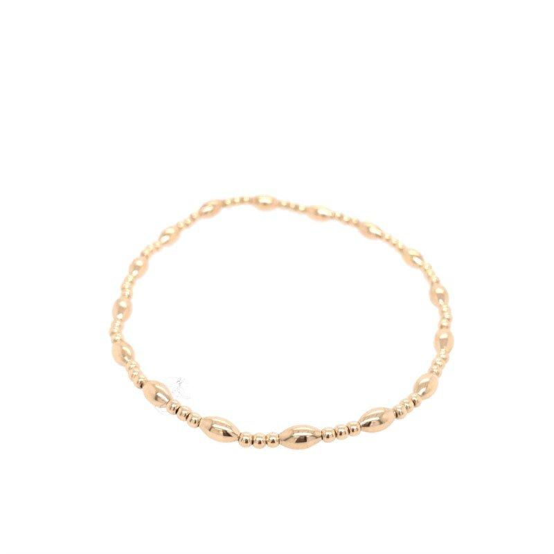 enewton Gold Filled Harmony Sincerity Pattern 2mm Bead Bracelet