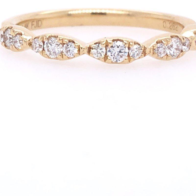 Lasker Bridal Scalloped Stackable Ring