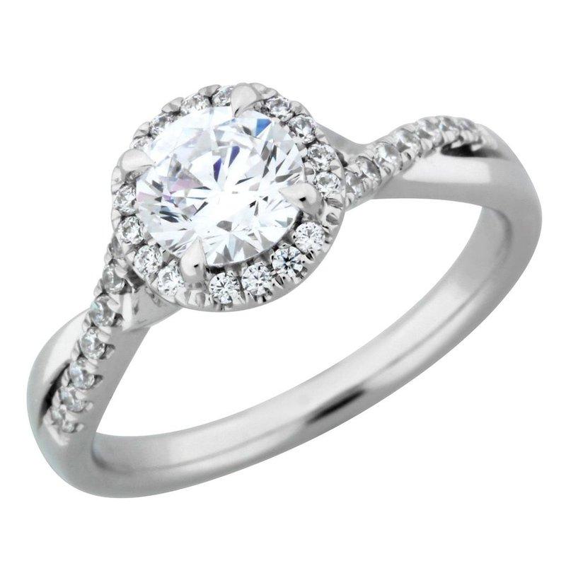 Lasker Bridal Round Royal Halo Ring - 5/8ct Center Diamond