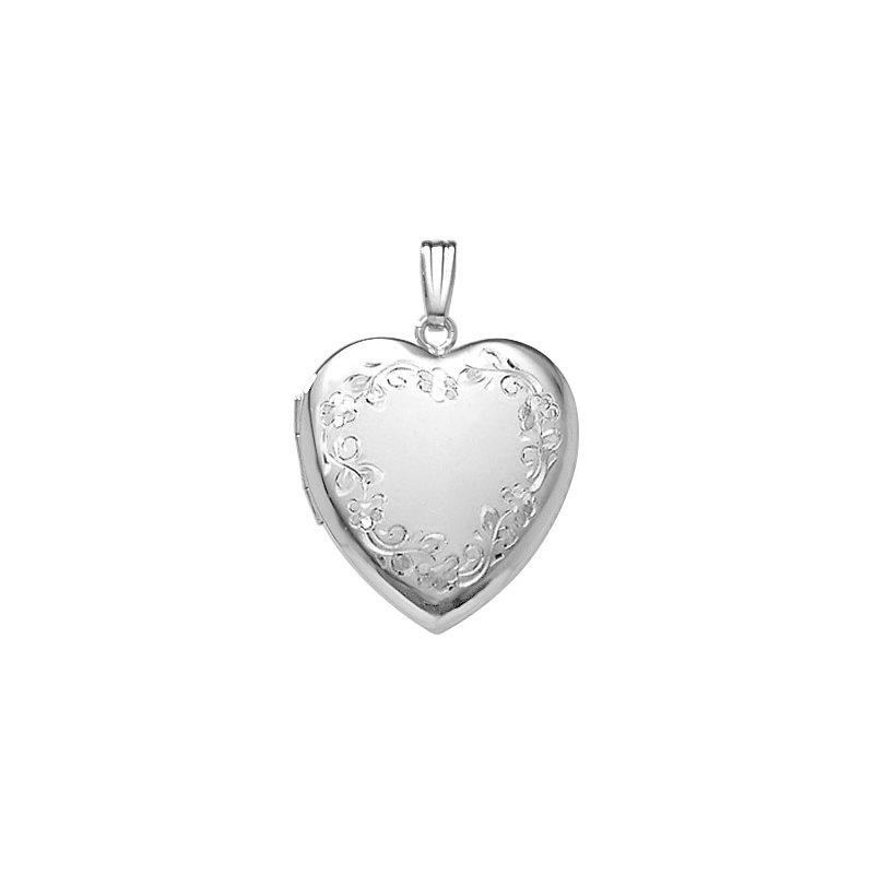Lasker Signature Heart Shaped Locket