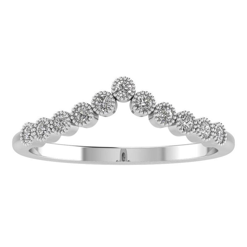Lasker Bridal Ariana Chevron Diamond Band