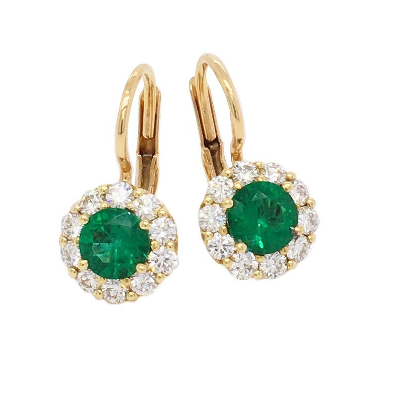 Suna Emerald & Diamond Drop EArrings
