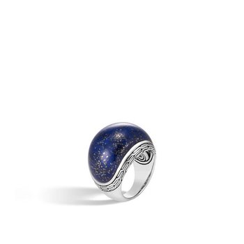 Classic Chain Dome Ring with Lapis Lazuli