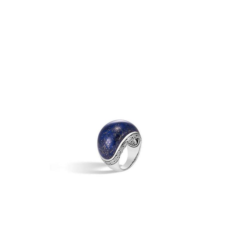 JOHN HARDY Classic Chain Dome Ring with Lapis Lazuli