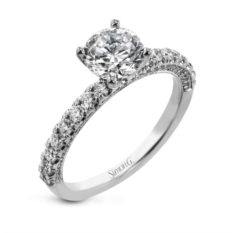Simon G Classic Prong Engagement Ring Mounting
