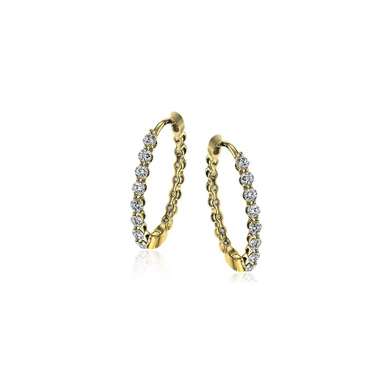 Simon G Modern Enchantment Diamond Hoop Earrings