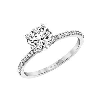 Simply Petite Ring - 1/2ct Center Diamond
