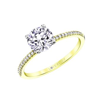 Simply Petite Ring - 1/2ct Center Diamond