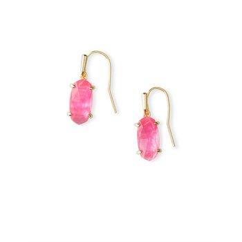 Lemmi Gold Drop Earrings In Azalea Illusion
