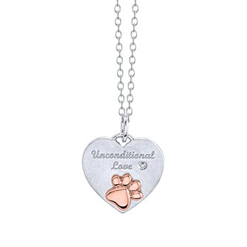 Unconditional Love Heart Paw Pendant