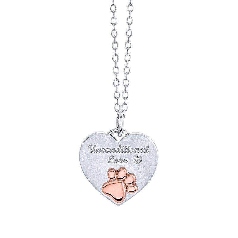 Lasker Signature Unconditional Love Heart Paw Pendant