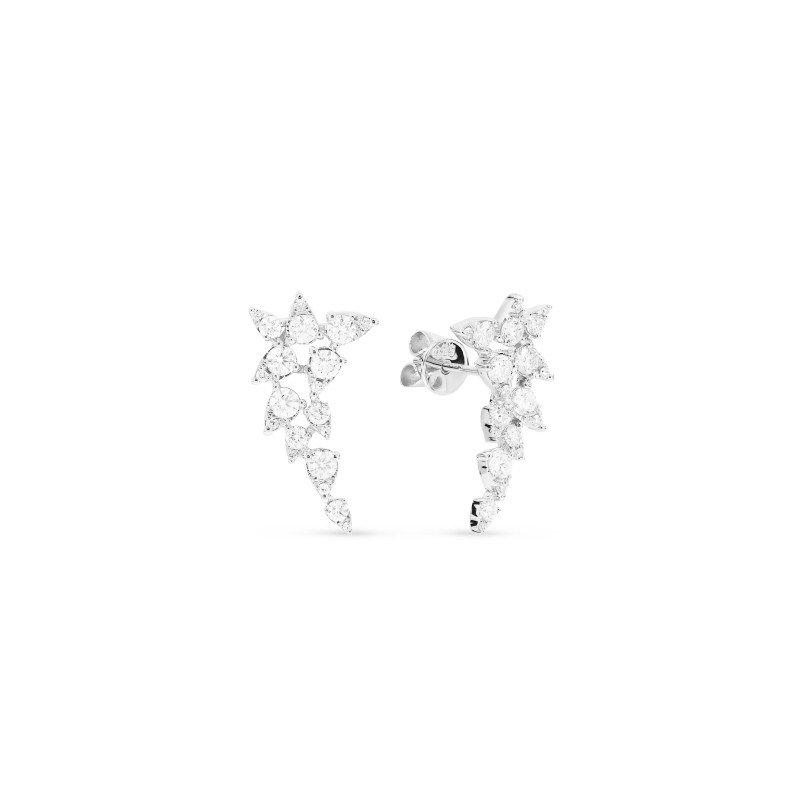 Lasker Diamond Fashion Diamond Cluster Earrings