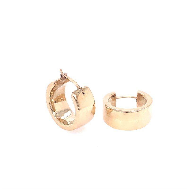 Lasker Gold Fashion 7.5mm x 18mm Wide Hoop Earrings