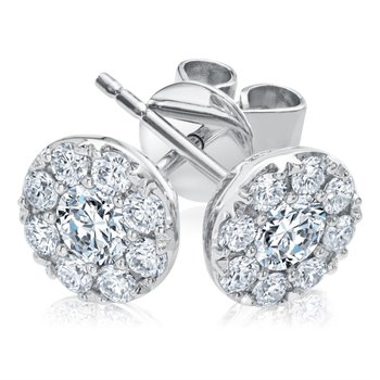 FOREVERMARK ETERNAL HALO EARRINGS .1.32CTTW