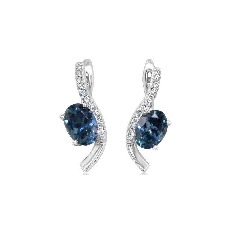 Lasker Gemstone Montana Sapphire Earrings