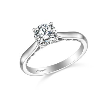 John Bagley 2.5mm Scrolled Solitaire Ring Mounting