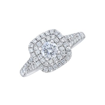 Love Story Double Halo Ring - Juliet