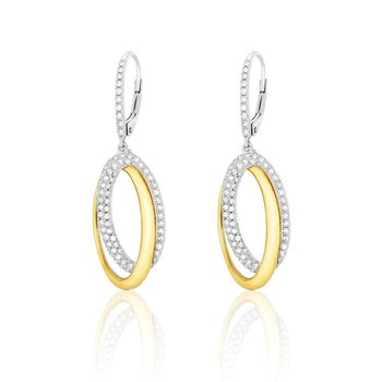 You and Me Oval Drop Earrings