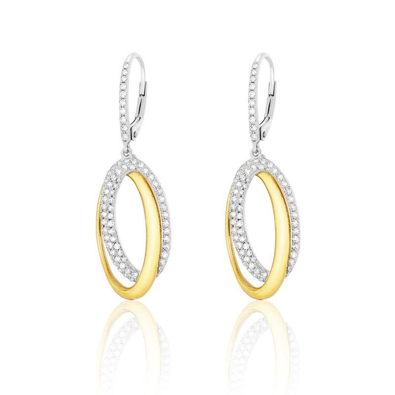 Lasker Diamond Fashion You and Me Oval Drop Earrings