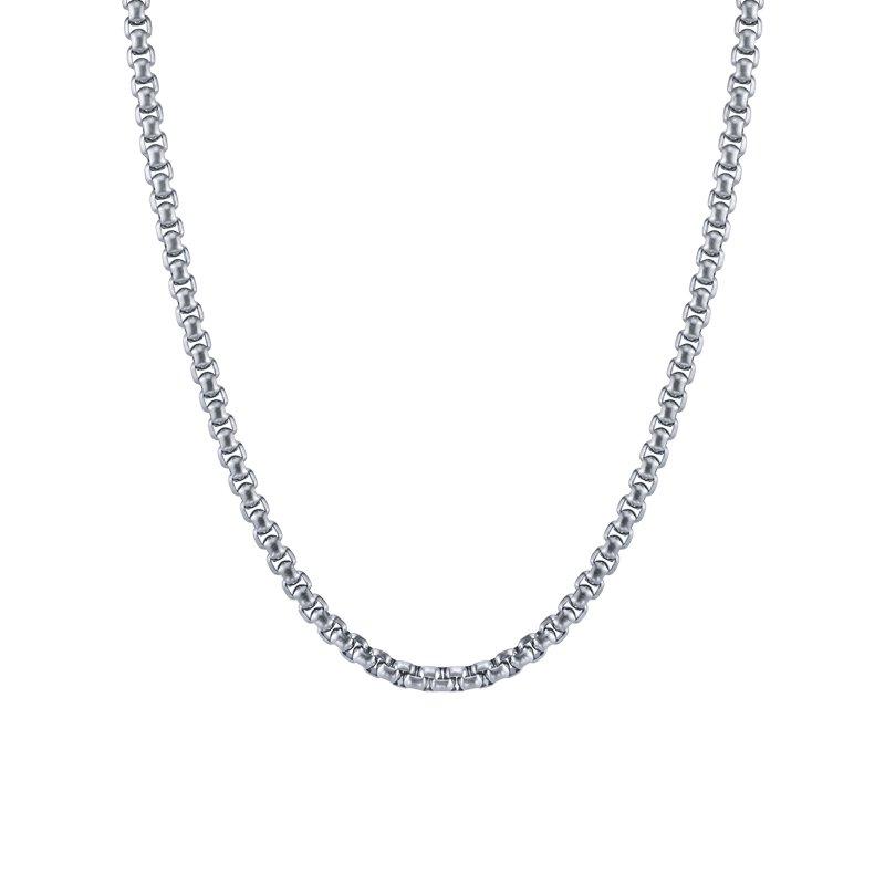 Lasker Men's Stainless Steel Rolo Chain