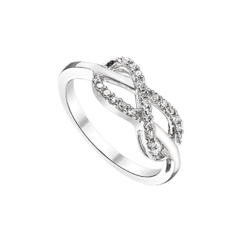 Lasker Signature STERLING SILVER RING WITH .14CTTW DIAMONDS