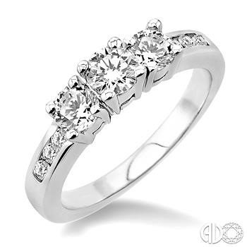 1ct Total Diamond Weight 3-Stone Ring