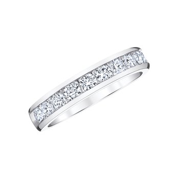 Classic Diamond Channel Band - 3/4cttw