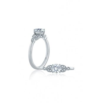 Vintage Style Engagement Ring Mounting with Miligrain Detail