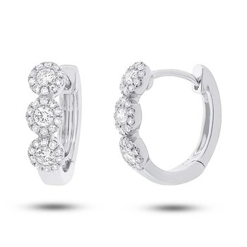 Center Of my World Diamond Hoop Earrings