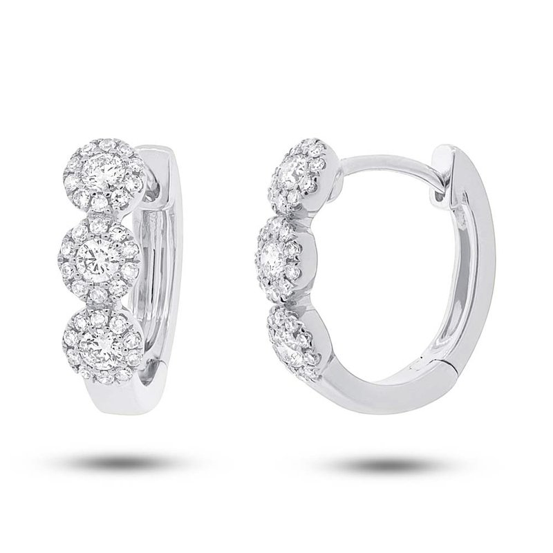 Lasker Diamond Fashion Center Of my World Diamond Hoop Earrings