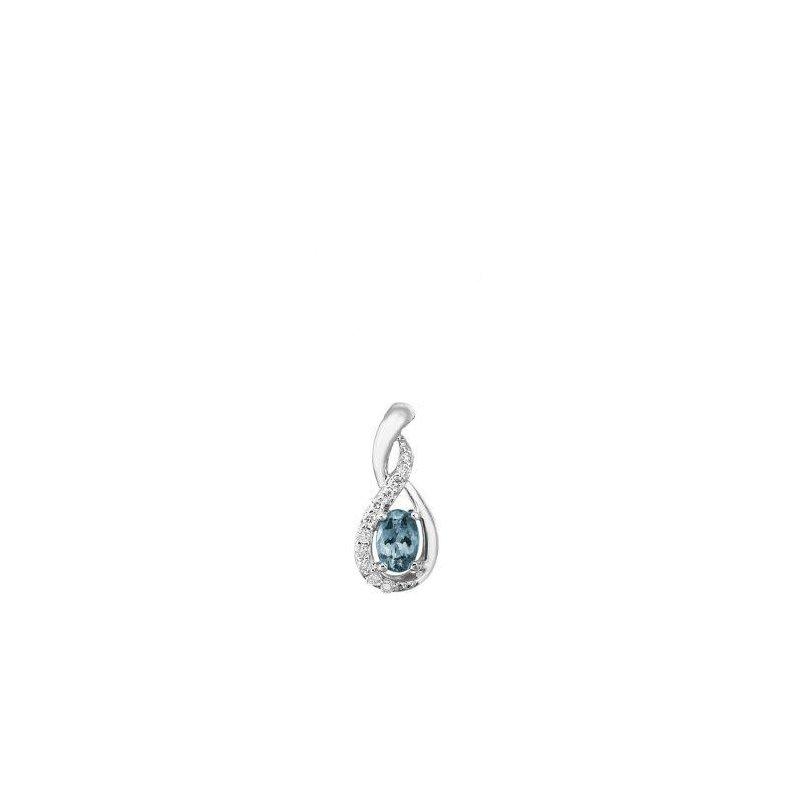Lasker Gemstone Aquamarine Pendant