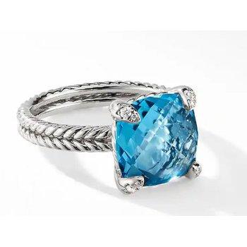 David Yurman Chatelaine Ring with Hampton Blue Topaz