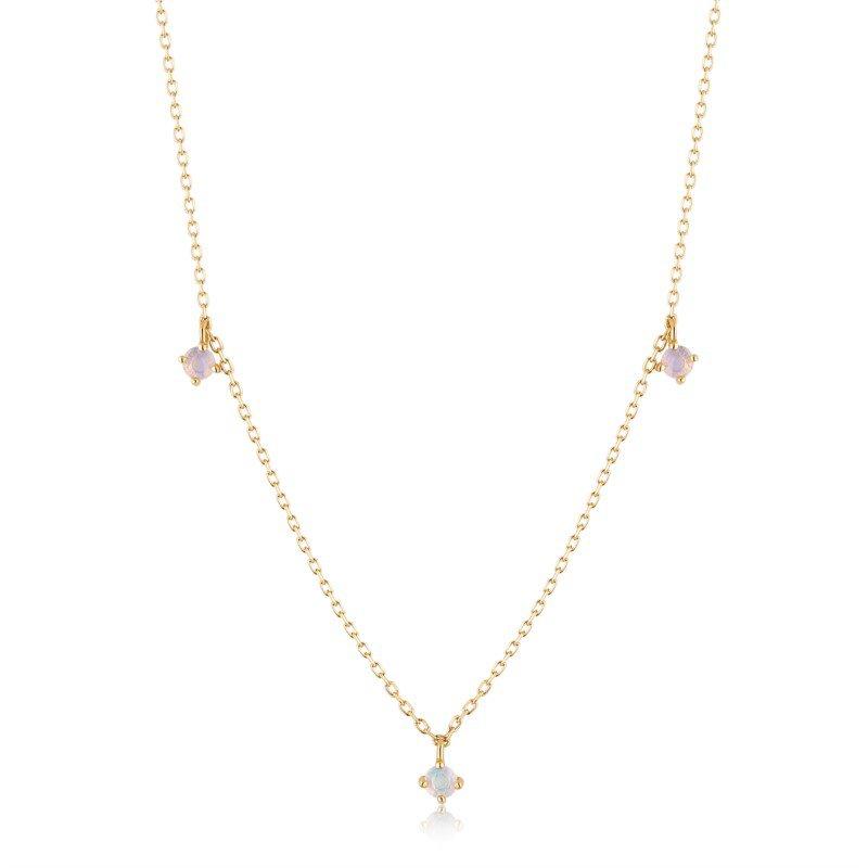 Aurelie Gi Flora Triple Opal Necklace
