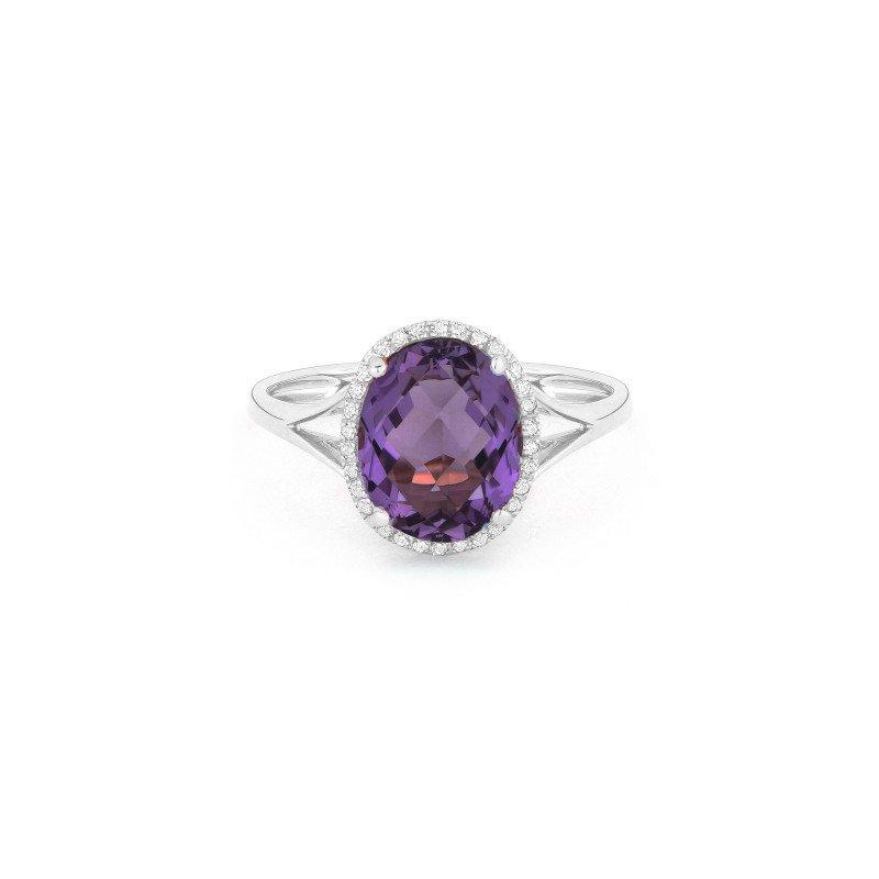 Lasker Gemstone Center Of My World Amethyst Ring