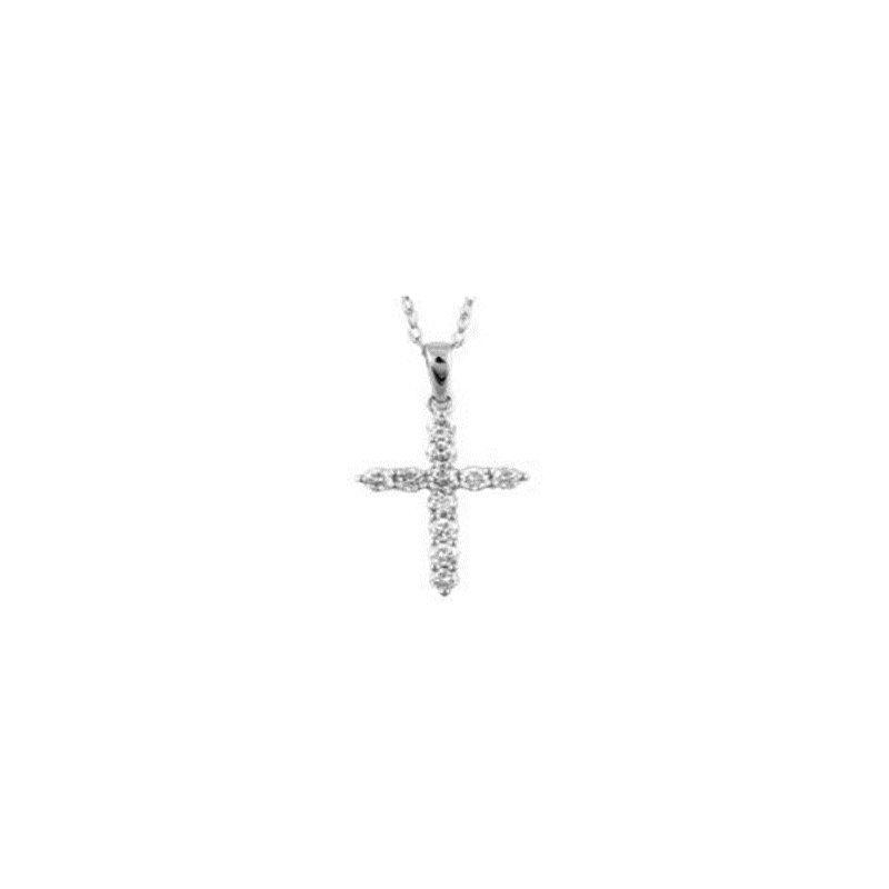 Lasker Diamond Fashion Diamond Cross Pendant .25cttw