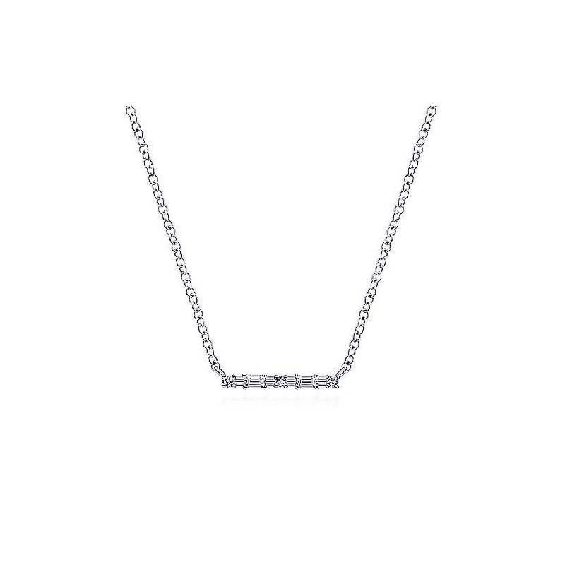 Gabriel Fashion Walk the Line Diamond Pendant