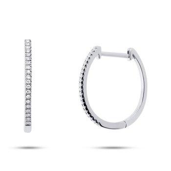 White Gold Diamond Hoops - 1/10cttw