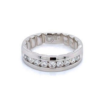 Channel-Set Diamond Band - 1cttw