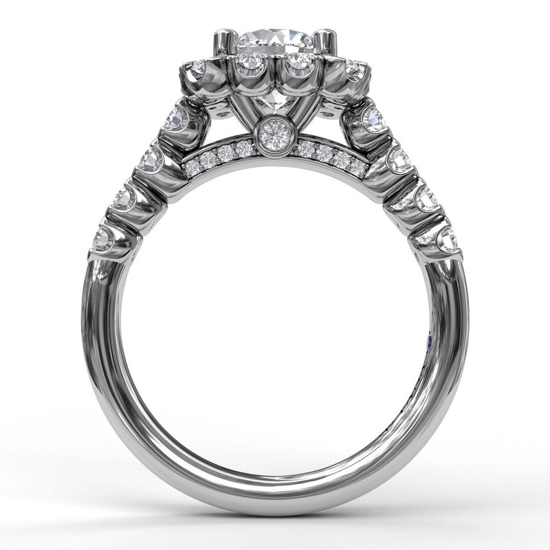 Fana Square Halo Engagement Ring Mounting