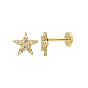 Diamond Pave Star Earring