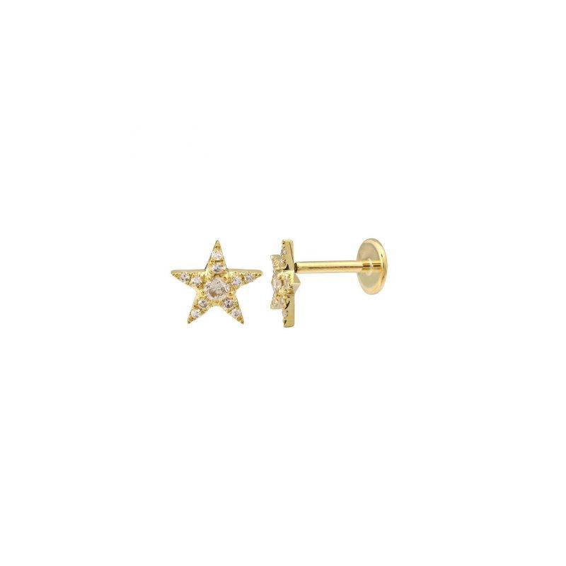 Lasker Diamond Fashion Diamond Pave Star Earring