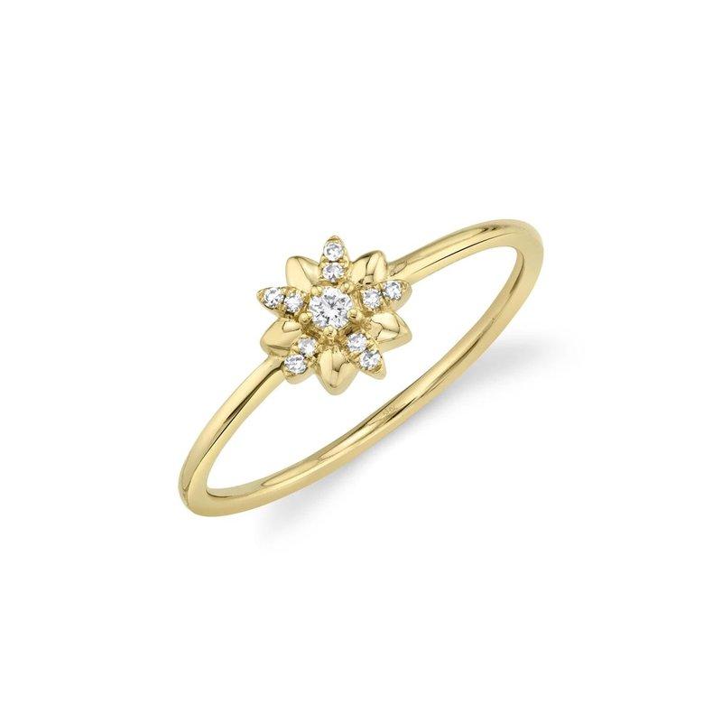 Lasker Diamond Fashion Flower Power Ring