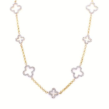 Granada Floral Cut Out Diamond Necklace