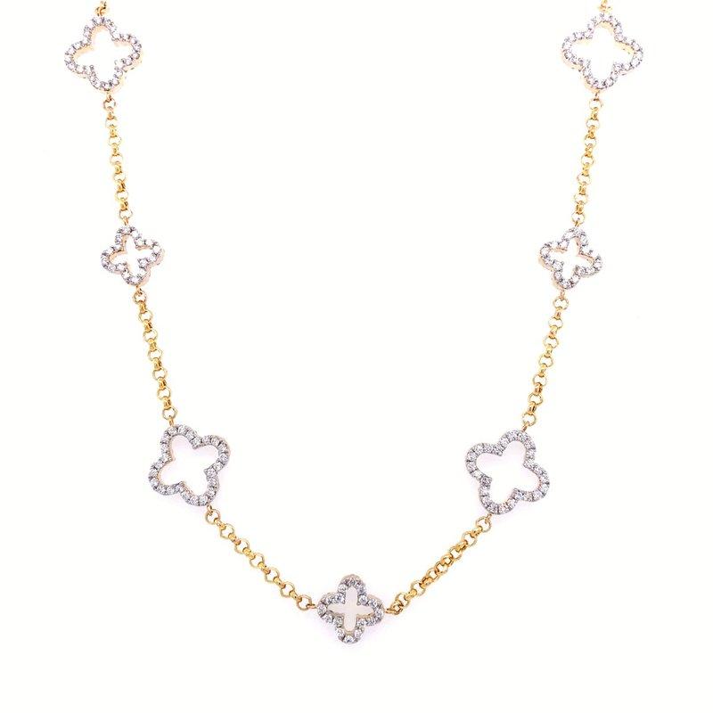 Lasker Diamond Fashion Granada Floral Cut Out Diamond Necklace