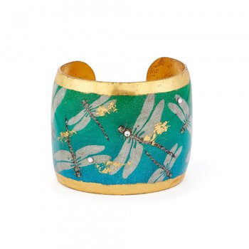 Blue Green Dragonfly Cuff