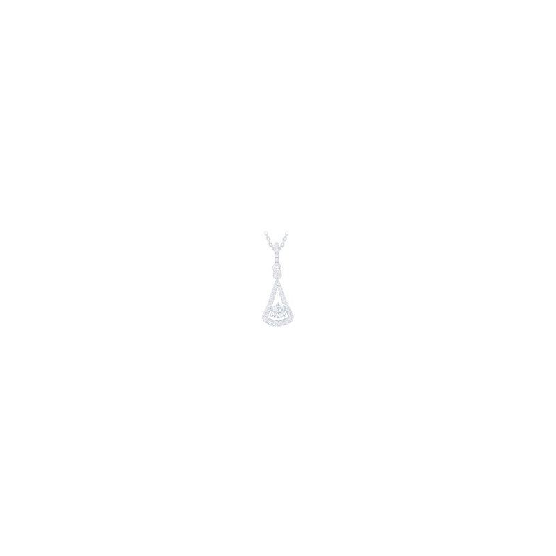 Lasker Diamond Fashion Triangular Diamond Pendant