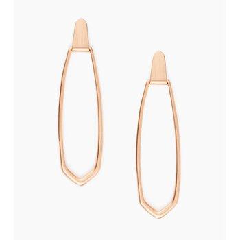 Patterson Hoop Earrings In Rose
