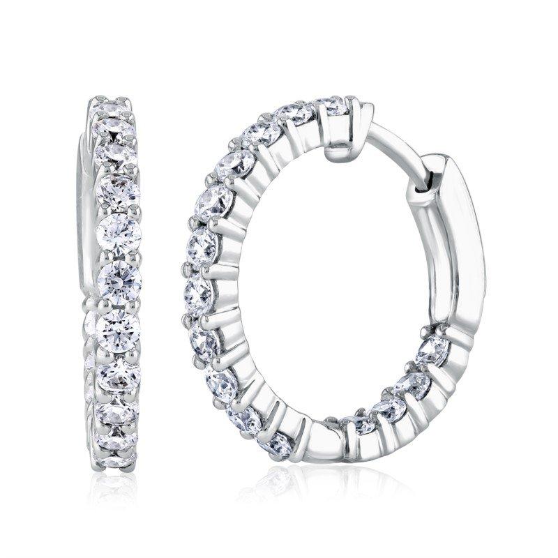 Fire & Ice Diamonds Fire & Ice - Hoop Earrings 3/4ct