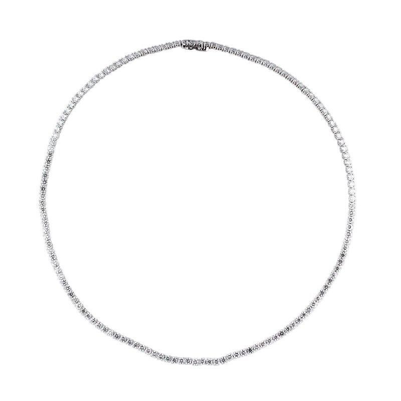 Lasker Diamond Fashion Riviera Necklace - 11.98ctw
